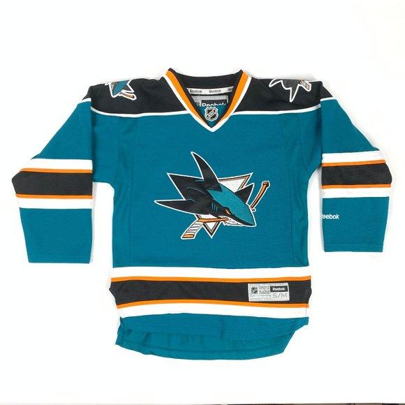 NHL San Jose Sharks Blank Hockey Jersey Youth S/M